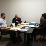 Os presidentes Jorge Fraxe e Carlos Ney, durante visita à Corregedoria